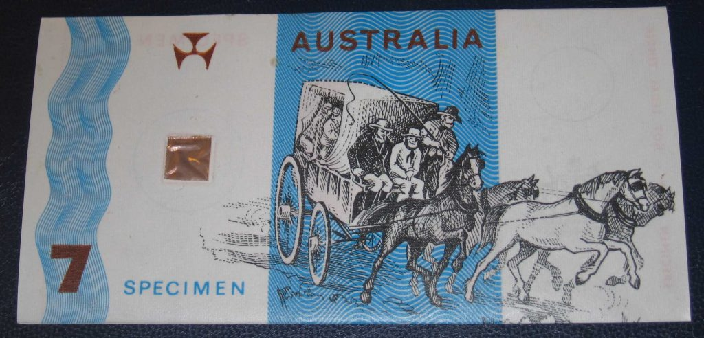 Australian Polymer Banknote side two